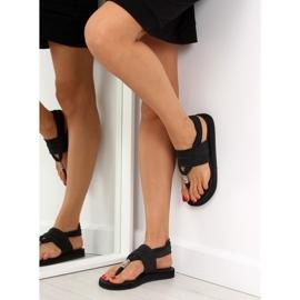 Sandałki japonki bawełniane czarne DD81P 3