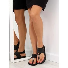 Sandałki japonki bawełniane czarne DD81P 4