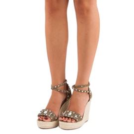 Bestelle Rockowe sandały espadryle zielone 6