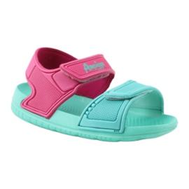 American Club miętowe sandałki dziecięce do wody 6631 1