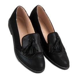Bestelle Stylowe damskie mokasyny czarne 1