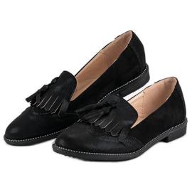 Bestelle Stylowe damskie mokasyny czarne 6