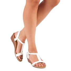 Bello Star Damskie sandały na lato białe 4