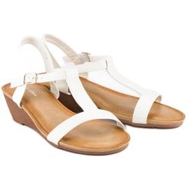 Bello Star Damskie sandały na lato białe 2