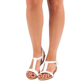 Bello Star Damskie sandały na lato białe 3