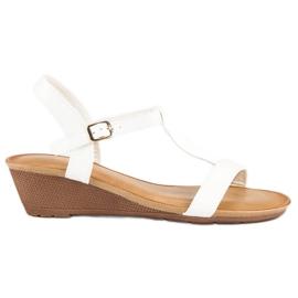 Bello Star Damskie sandały na lato białe 5
