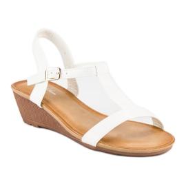 Bello Star Damskie sandały na lato białe 6