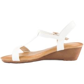 Bello Star Damskie sandały na lato białe 7