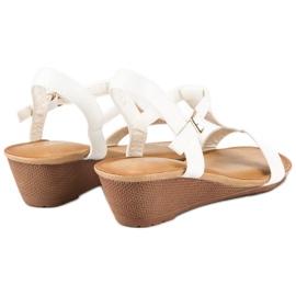 Bello Star Damskie sandały na lato białe 1