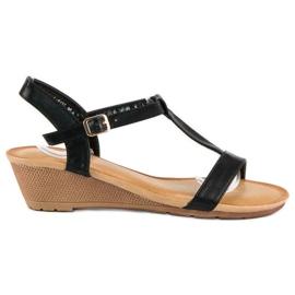 Bello Star Damskie sandały na lato czarne 7