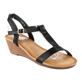 Bello Star Damskie sandały na lato czarne 1