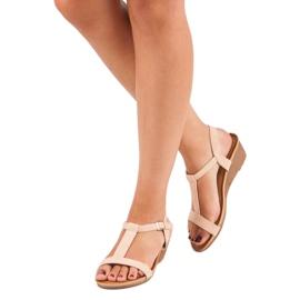 Bello Star Damskie sandały na lato różowe 1