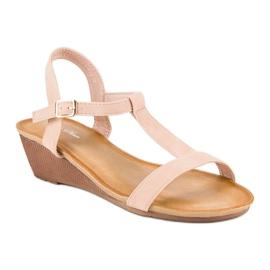 Bello Star Damskie sandały na lato różowe 2