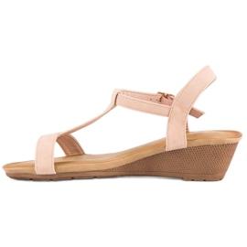 Bello Star Damskie sandały na lato różowe 3