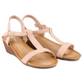 Bello Star Damskie sandały na lato różowe 7