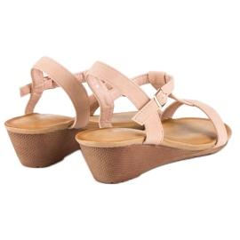 Bello Star Damskie sandały na lato różowe 4