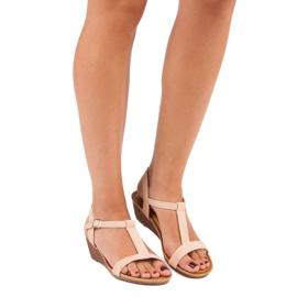 Bello Star Damskie sandały na lato różowe 6
