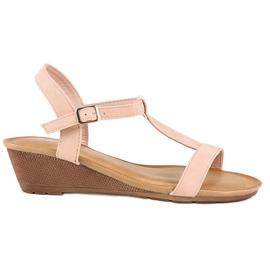 Bello Star Damskie sandały na lato różowe 5
