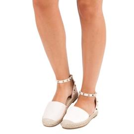 Rockowe sandały espadryle różowe 4