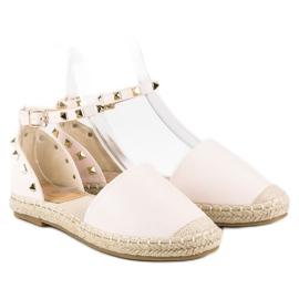 Rockowe sandały espadryle różowe 3