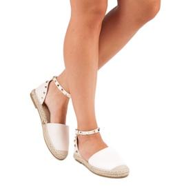 Rockowe sandały espadryle różowe 5