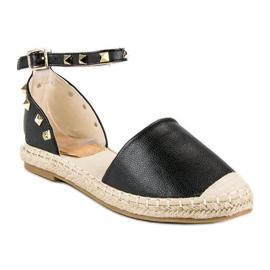 Rockowe sandały espadryle czarne 5