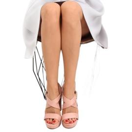 Sandałki na słupku różowe BJ1602-SD 6