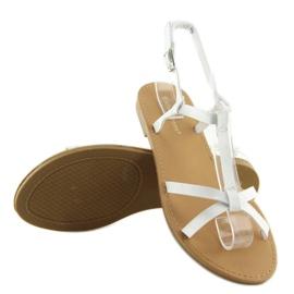 Sandałki fluorescencyjne hit lata białe 513 1