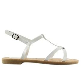 Sandałki fluorescencyjne hit lata białe 513 2