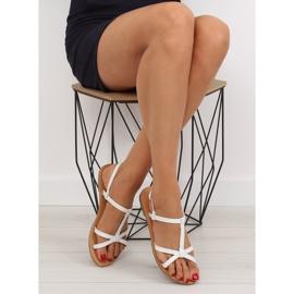 Sandałki fluorescencyjne hit lata białe 513 5