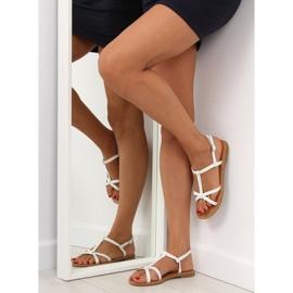 Sandałki fluorescencyjne hit lata białe 513 6