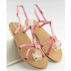 Sandałki fluorescencyjne hit lata różowe 5132 Pink 5
