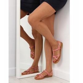 Sandałki fluorescencyjne hit lata różowe 5132 Pink 1
