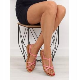 Sandałki fluorescencyjne hit lata różowe 5132 Pink 3