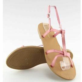 Sandałki fluorescencyjne hit lata różowe 5132 Pink 4