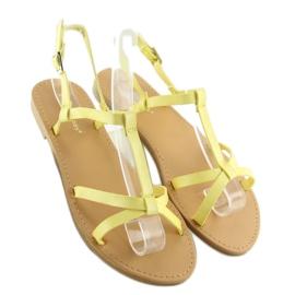 Sandałki fluorescencyjne hit lata żółte 5132 Yellow 6