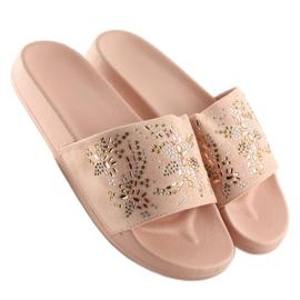 Klapki damskie różowe 883 Pink 3