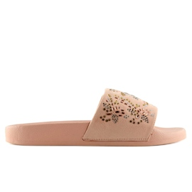 Klapki damskie różowe 883 Pink 4