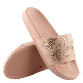 Klapki damskie różowe 883 Pink 5