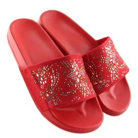 Klapki damskie czerwone 883 Red 3
