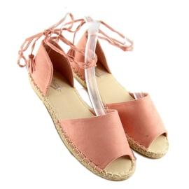 Espadryle open toe różowe Z-17 pink 2