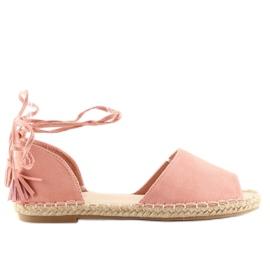 Espadryle open toe różowe Z-17 pink 1