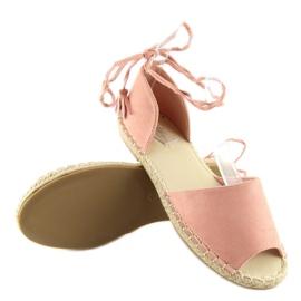 Espadryle open toe różowe Z-17 pink 3