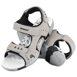 Hasby Sportowe sandały płaskie szare 1