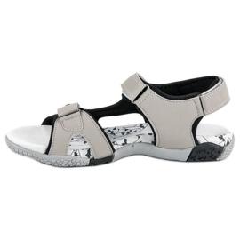 Hasby Sportowe sandały płaskie szare 2