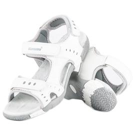 Hasby Sportowe sandały płaskie białe 1