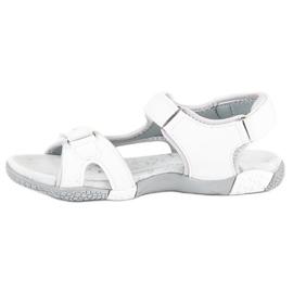 Hasby Sportowe sandały płaskie białe 2