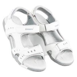 Hasby Sportowe sandały płaskie białe 3