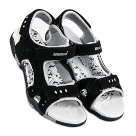 Hasby Sportowe sandały płaskie czarne 3