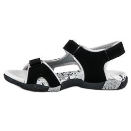 Hasby Sportowe sandały płaskie czarne 1